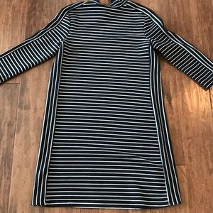 Oasis navy and white stripped dress size Small